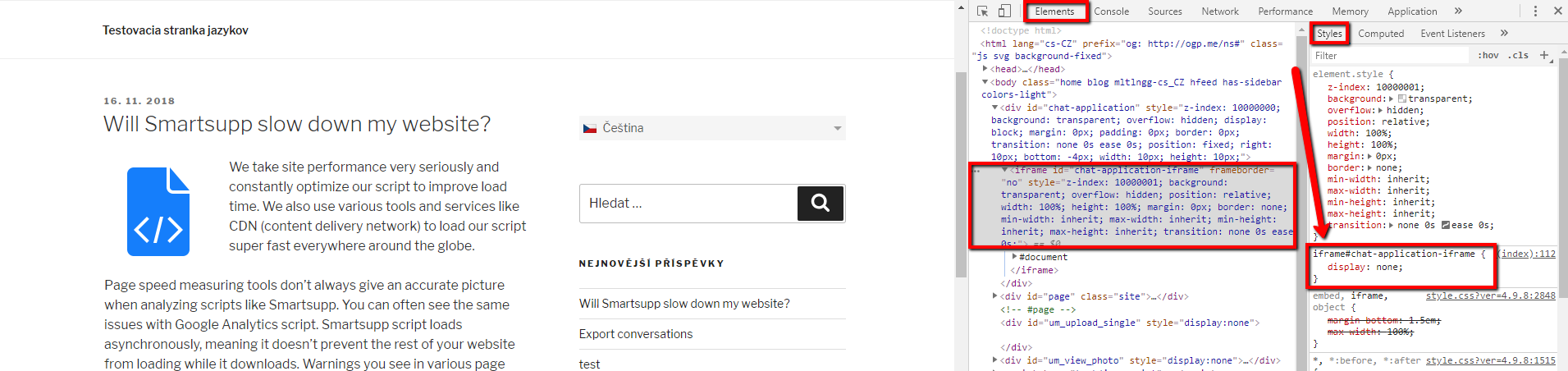 Why can't I see the chat on my website? - Smartsupp